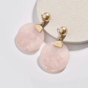 EARRINGS | Bold Pink Acrylic Statement Earrings